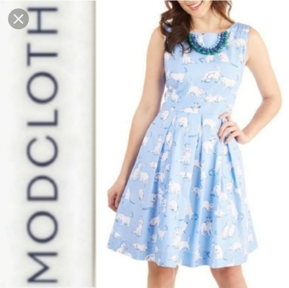 f9c27663c2bf Modcloth Dresses | Plus Chalk Of The Town Cat Dress | Poshmark